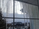 Window curtain made by icicles